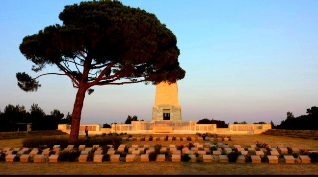 Over 60,000 young Australian and New Zealander soldiers lost their lives in the 9 month fierce battle of Gallipoli. This cemetery is one of the many in the peninsula